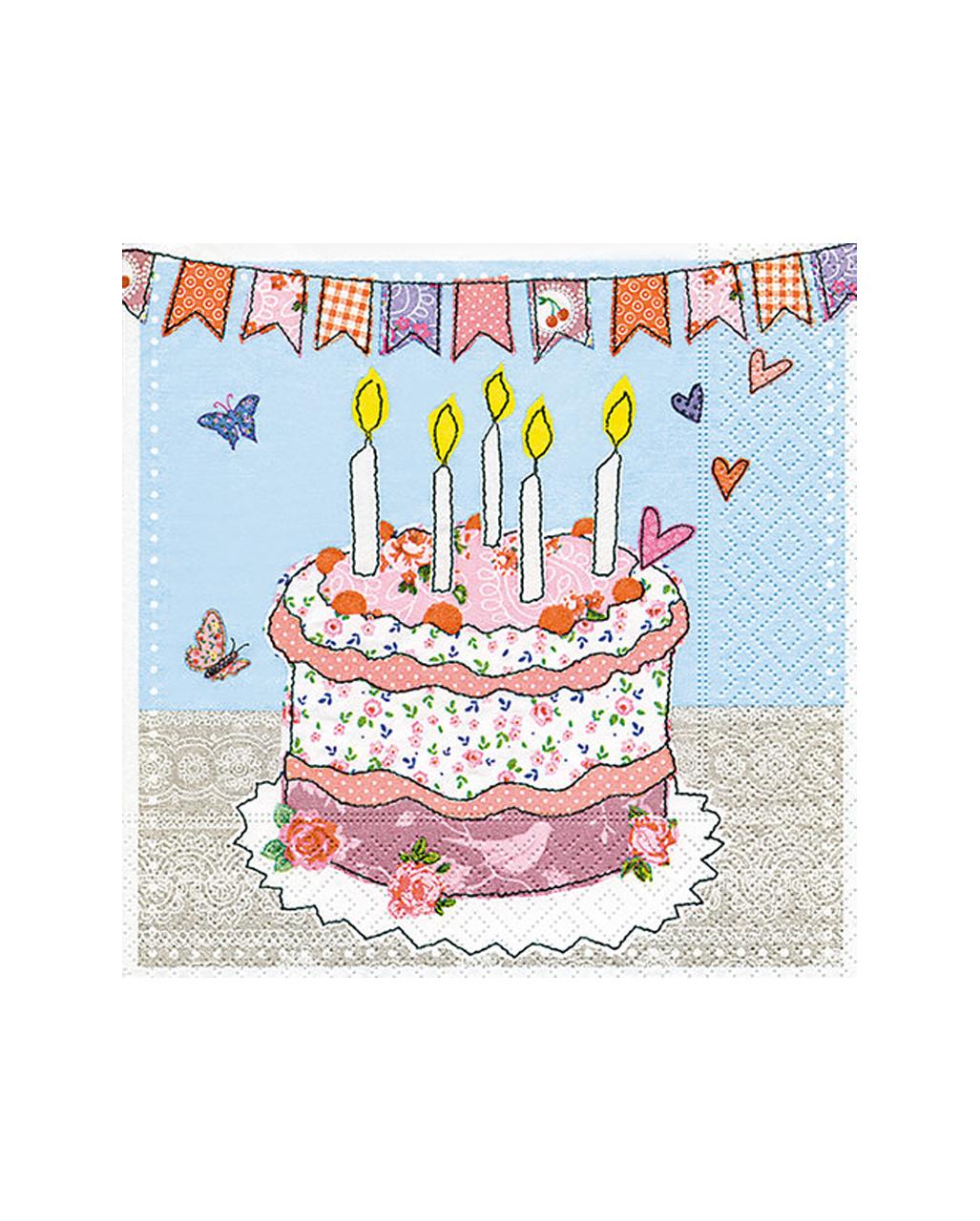 Birthday Cake Napkins 20 Pieces Table Decoration Horror Shop