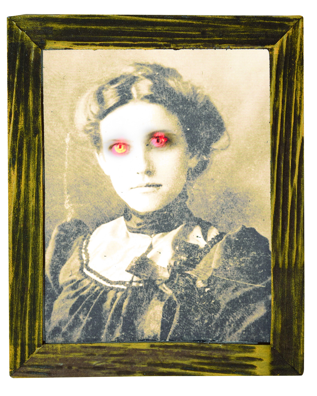 Geisterlady in Bilderrahmen Licht & Sound 25 cm ☆   Horror-Shop.com