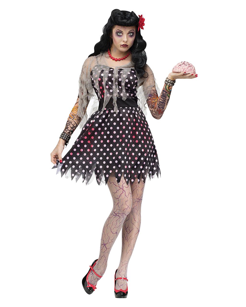 rockabilly zombie costume | zombie rock`n`roll dancer dress | horror