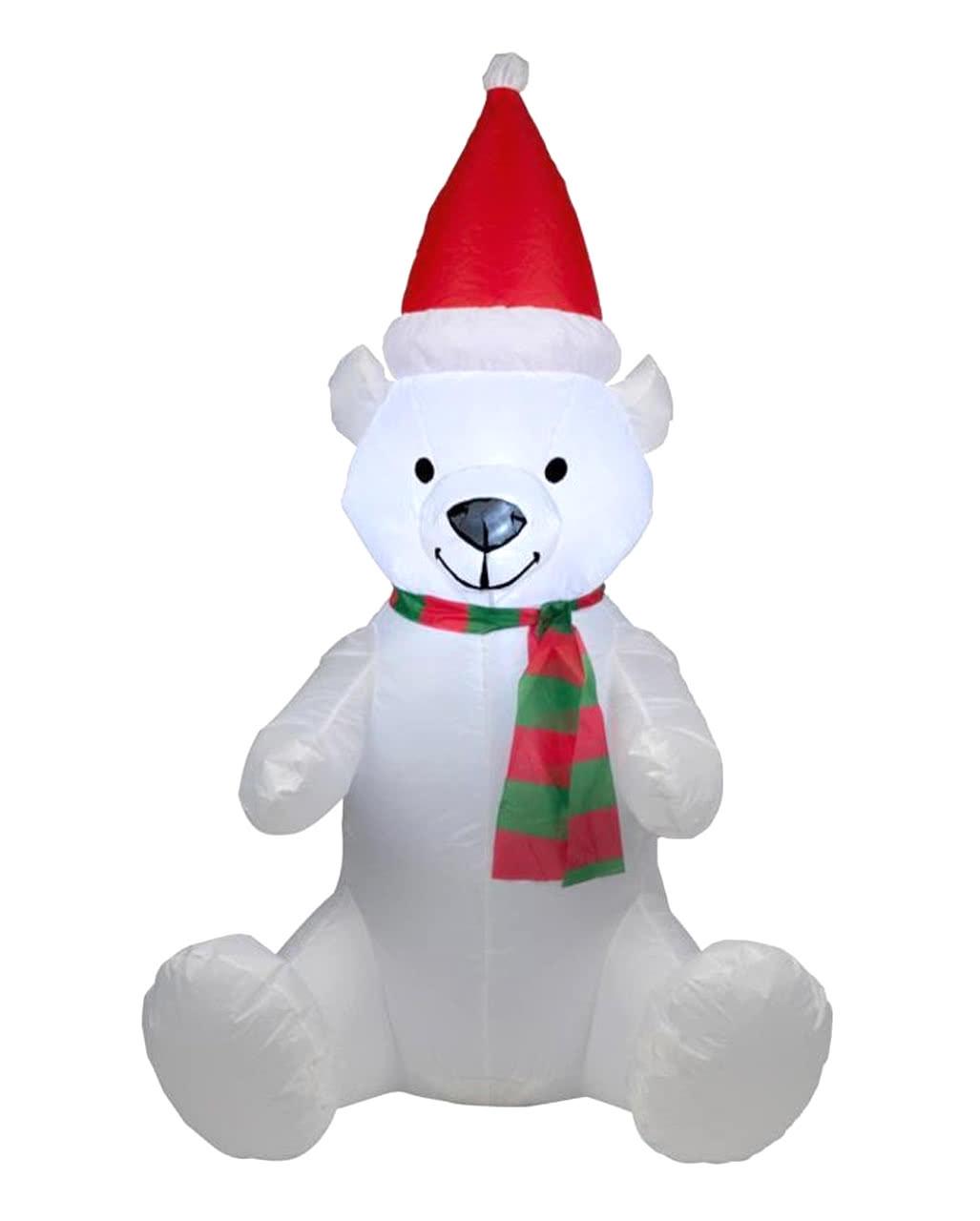 Christmas bear inflatable with LED 120cm | Inflatable Christmas ...