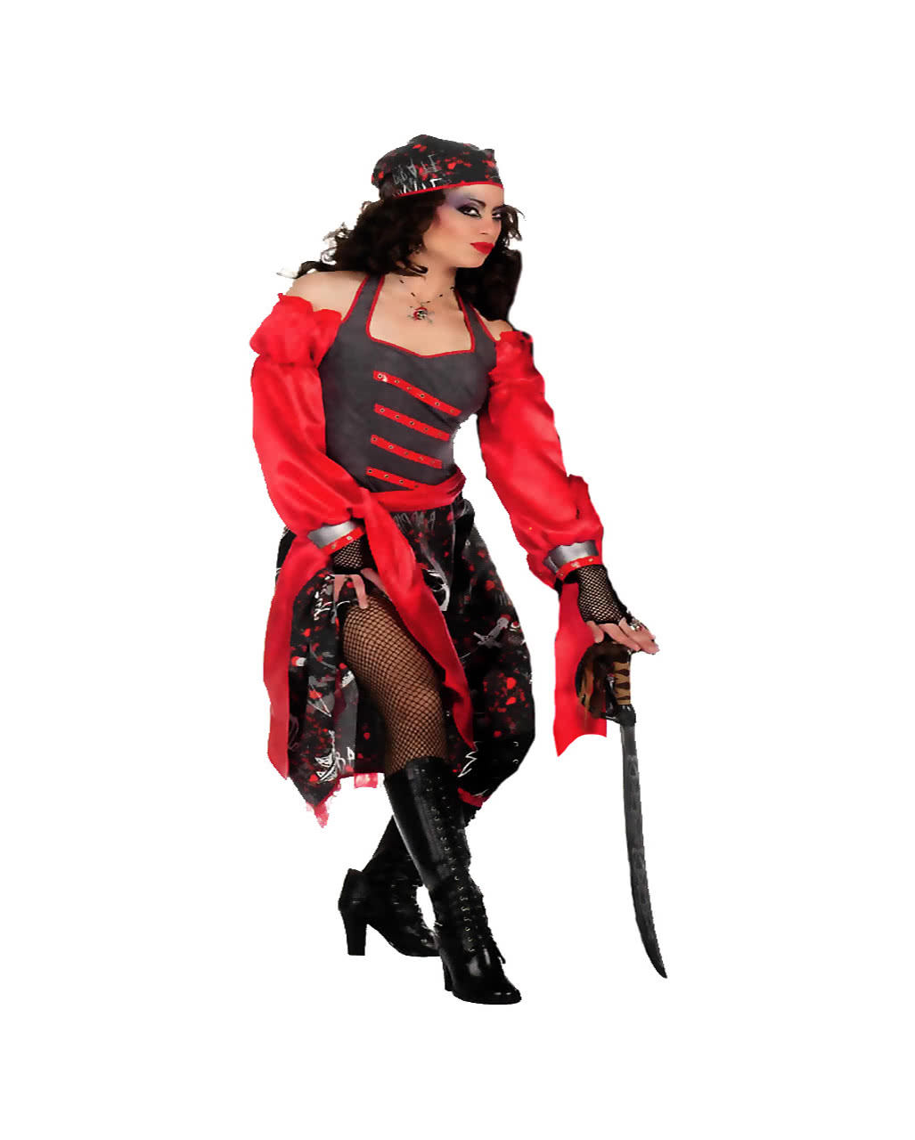 skull pirate woman costume plus size
