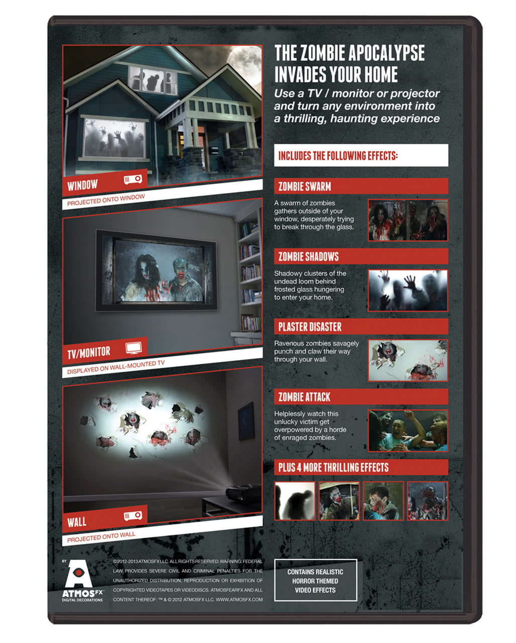 zombie invasion tv halloween effect dvd zombie invasion tv halloween effect dvd