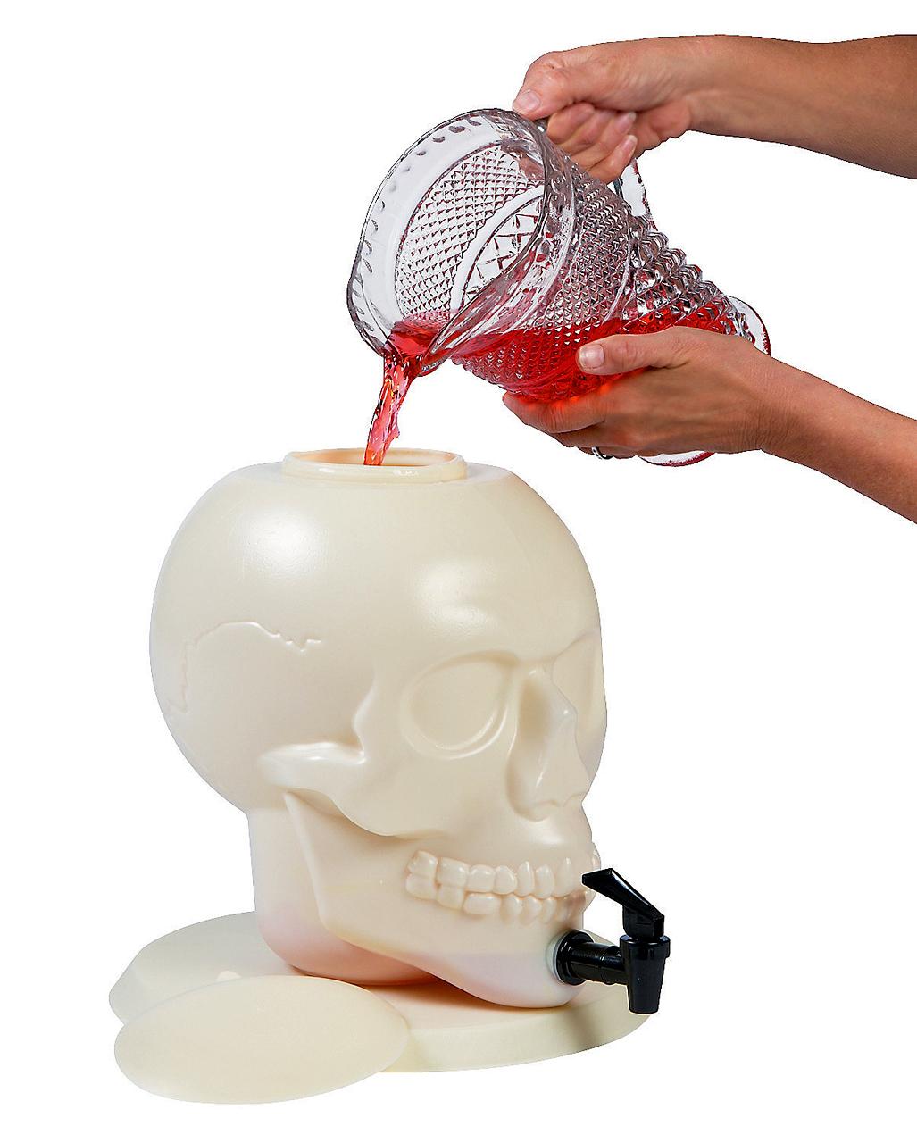 skull drink dispenser halloween table decoration | horror-shop