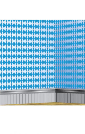 Bayerische Rautenmuster Wandfolie weiß/blau