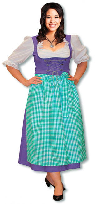 Dirndl Kostüm lila Plus Size 44 44