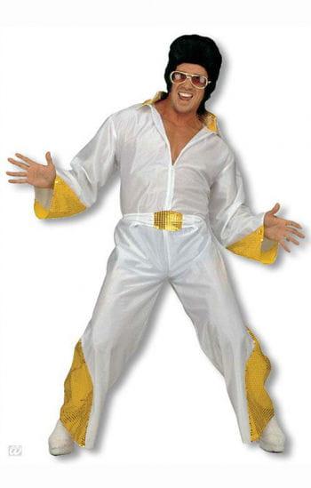 King of Rock Kostüm mit goldenem Glitter XL