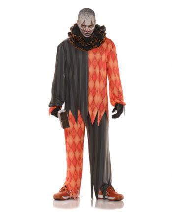 evil clown costume with ruffled collar for horror clowns horror