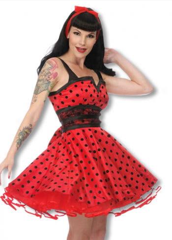 Petticoat Kleid mit Punkten schwarz-rot L L / 40