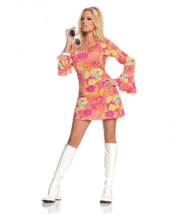 Geblümtes Hippie Minikleid  XL
