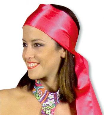 Schal rot aus Satin
