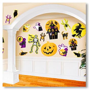 Scherenschnitte Halloween mit Glitzer