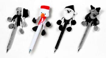 Plush Pen Snowman