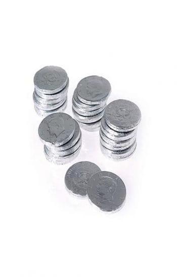 Schokoladen Münzen Silber