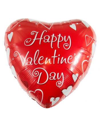 Happy Valentins Day Folienballon mit Herzen