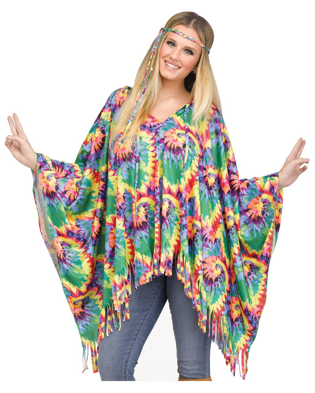 hippie poncho mit haarband jetzt kaufen horror. Black Bedroom Furniture Sets. Home Design Ideas